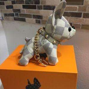 cute dog keychain lv